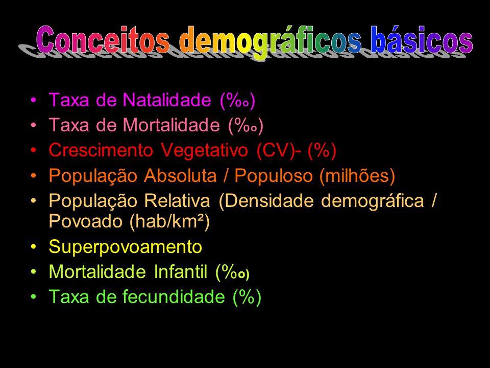Conceitos demográficos básicos