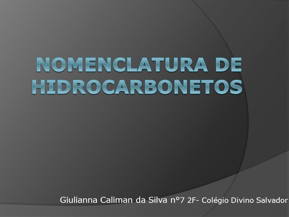 Nomenclatura de hidrocarbonetos