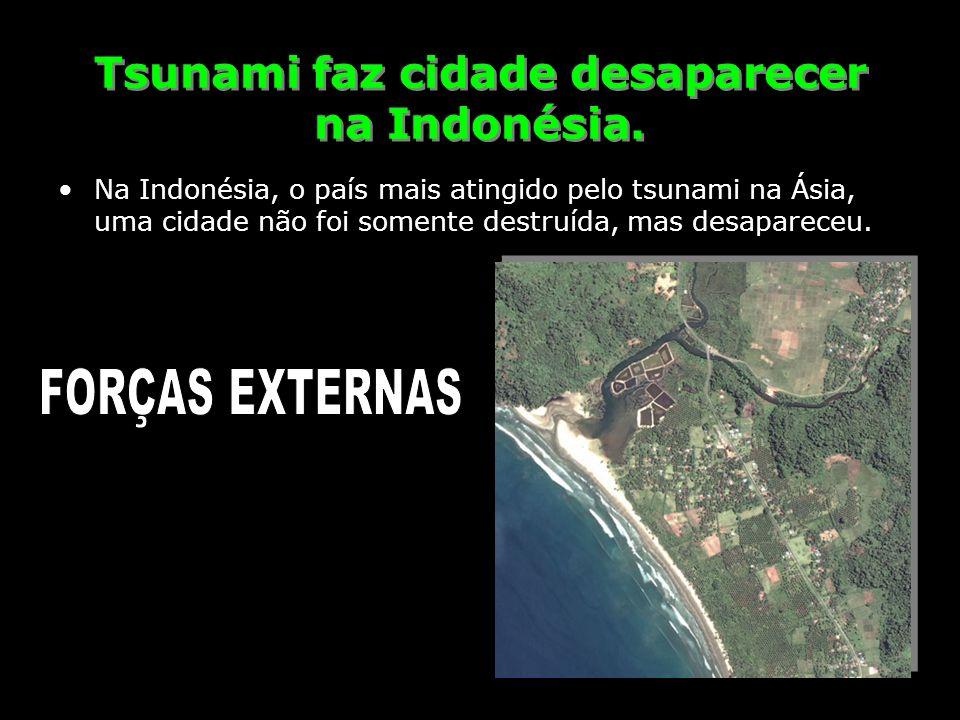 Tsunami faz cidade desaparecer na Indonésia.