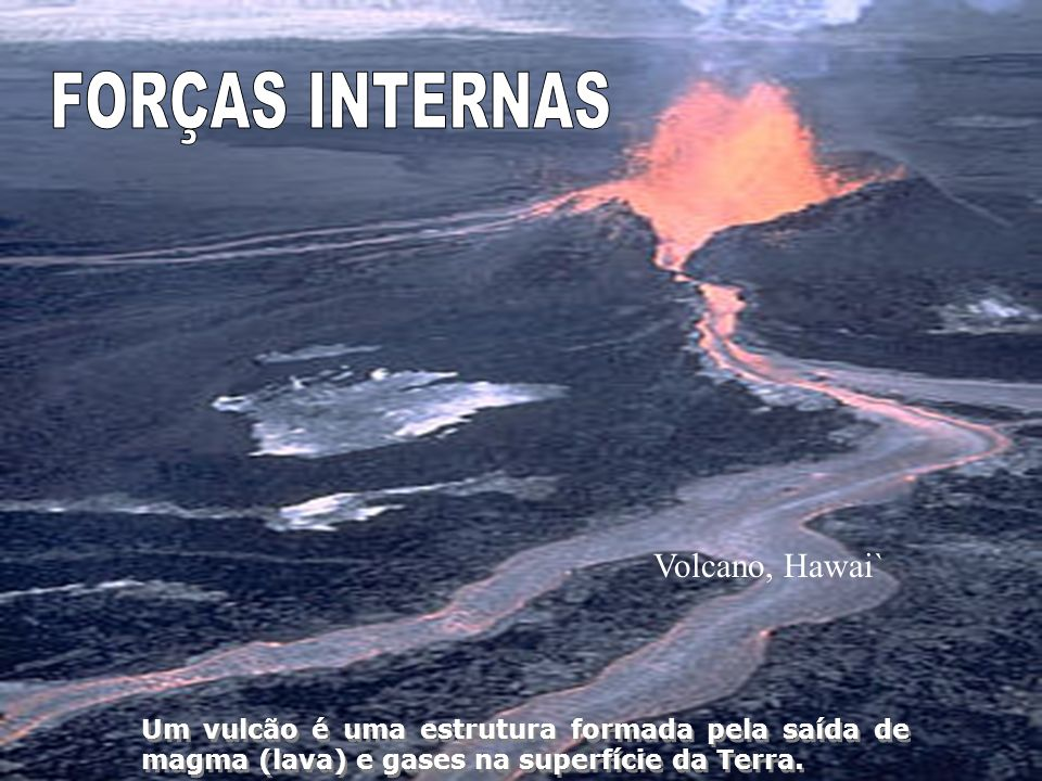 FORÇAS INTERNAS Volcano, Hawai`