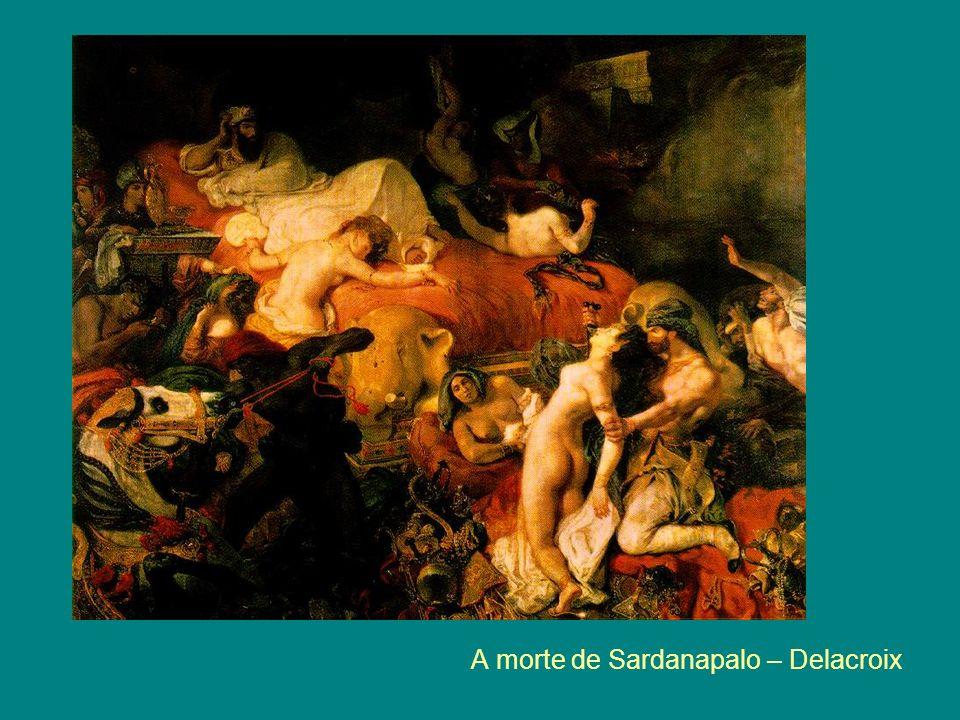A morte de Sardanapalo – Delacroix