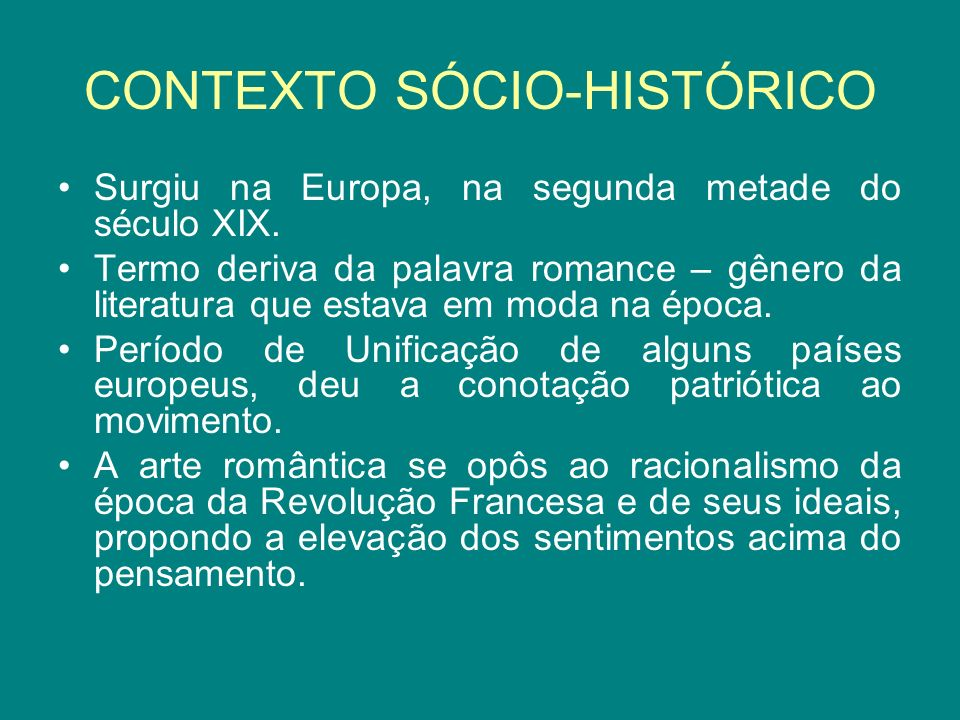 CONTEXTO SÓCIO-HISTÓRICO