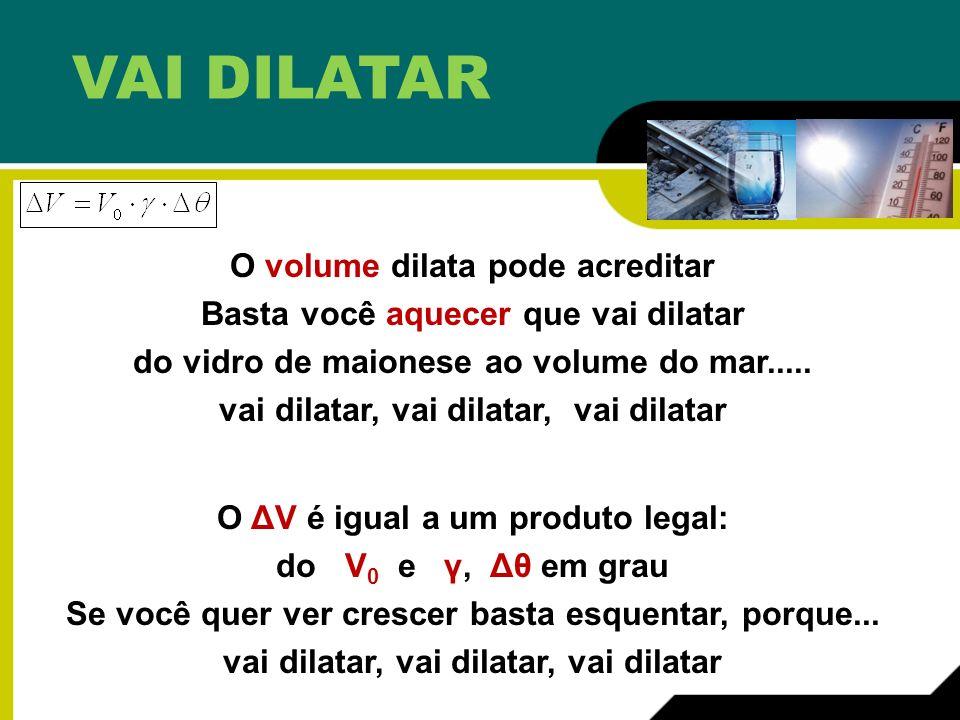 VAI DILATAR O volume dilata pode acreditar