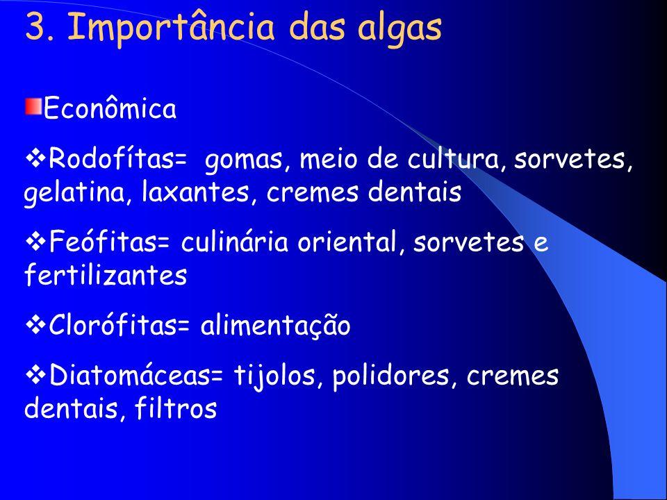 3. Importância das algas Econômica