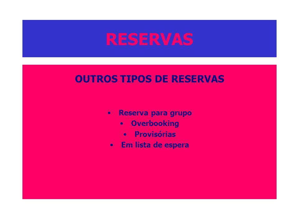OUTROS TIPOS DE RESERVAS
