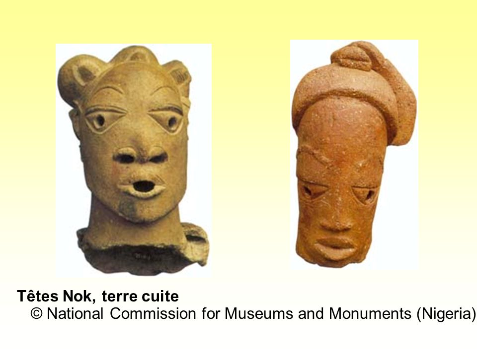 Têtes Nok, terre cuite © National Commission for Museums and Monuments (Nigeria)
