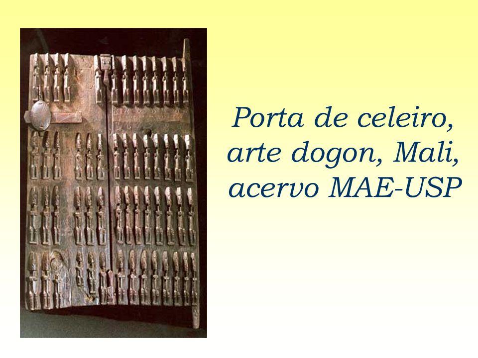 Porta de celeiro, arte dogon, Mali, acervo MAE-USP