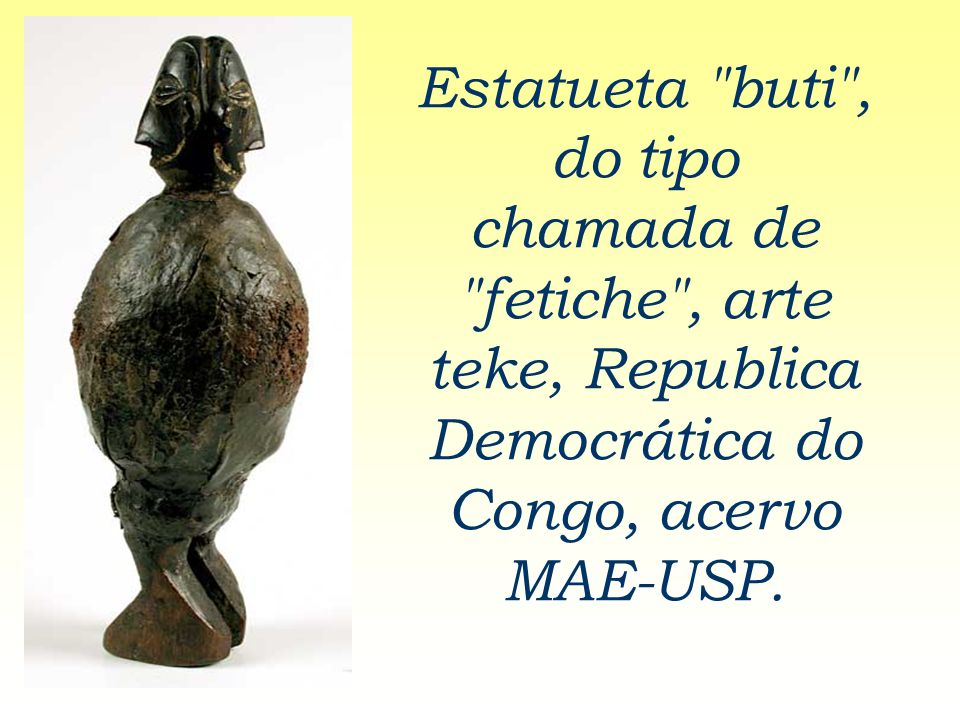 Estatueta buti , do tipo chamada de fetiche , arte teke, Republica Democrática do Congo, acervo MAE-USP.