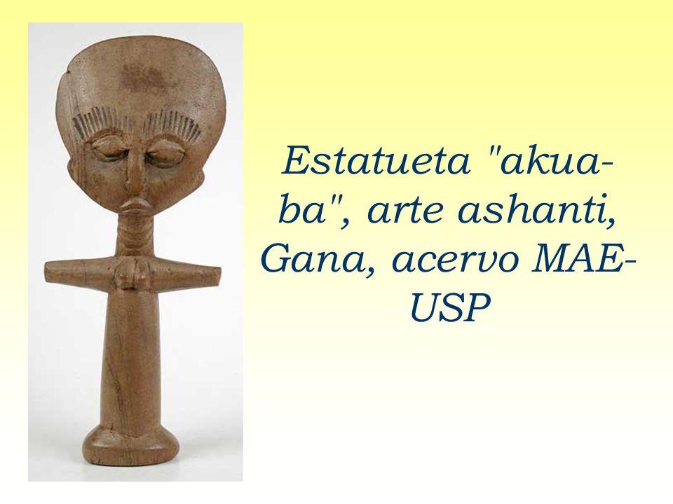 Estatueta akua-ba , arte ashanti, Gana, acervo MAE-USP