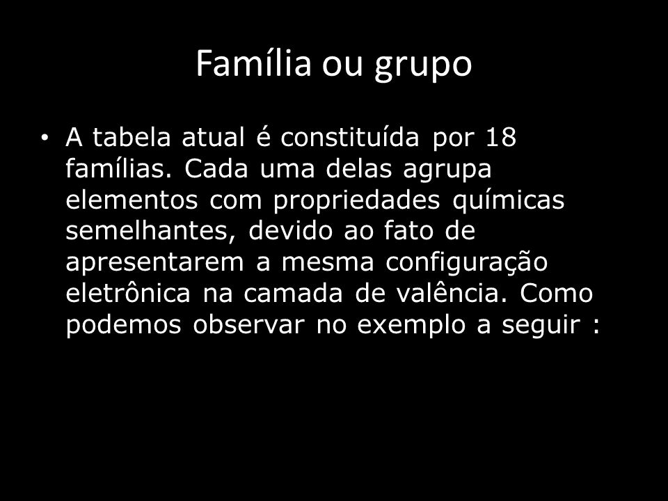 Família ou grupo