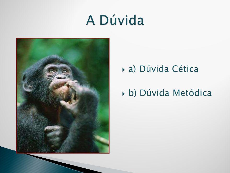 A Dúvida a) Dúvida Cética b) Dúvida Metódica