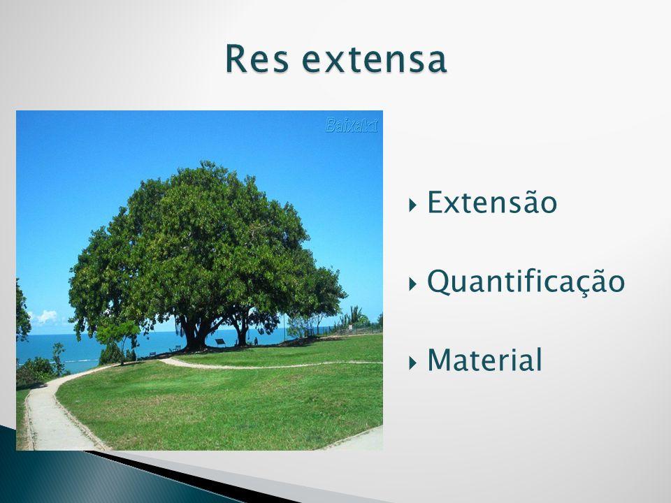 Res extensa Extensão Quantificação Material