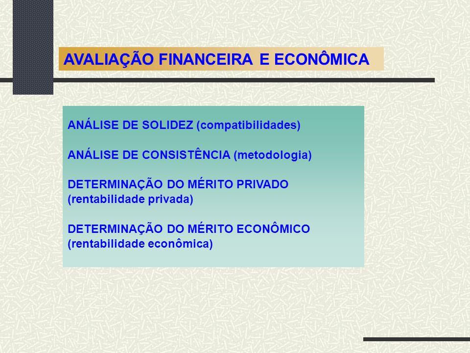 AVALIAÇÃO FINANCEIRA E ECONÔMICA