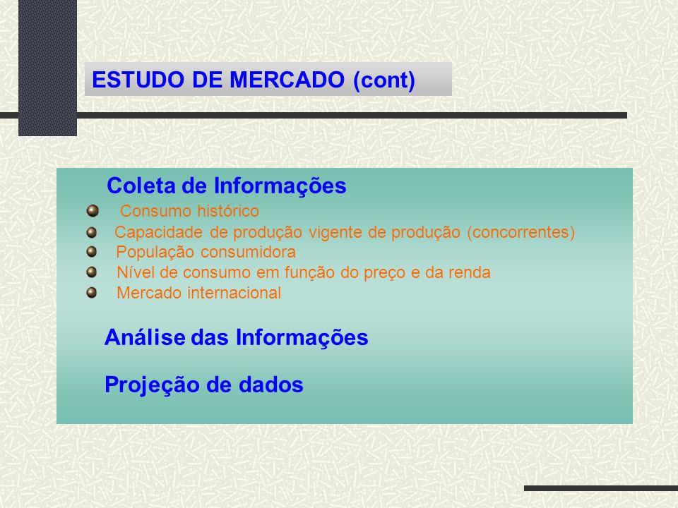 ESTUDO DE MERCADO (cont)