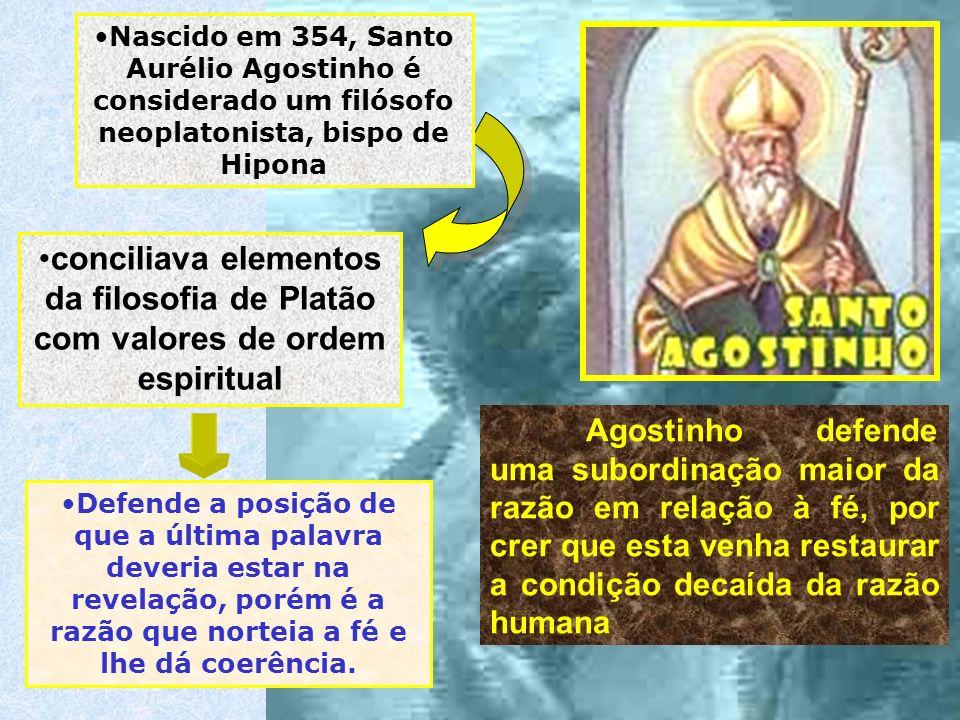 Nascido em 354, Santo Aurélio Agostinho é considerado um filósofo neoplatonista, bispo de Hipona