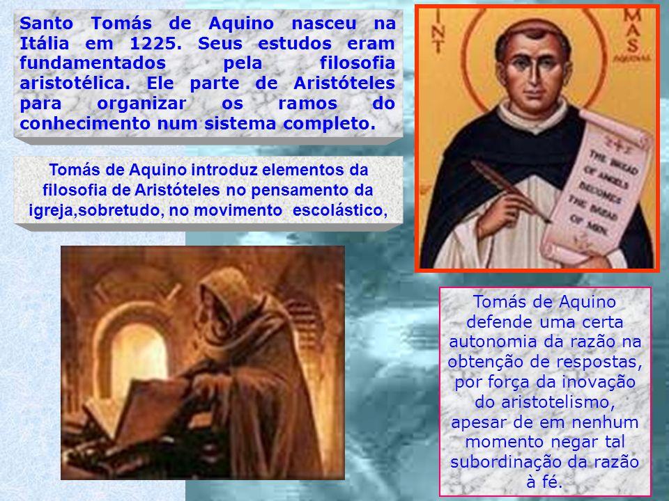 Santo Tomás de Aquino nasceu na Itália em 1225