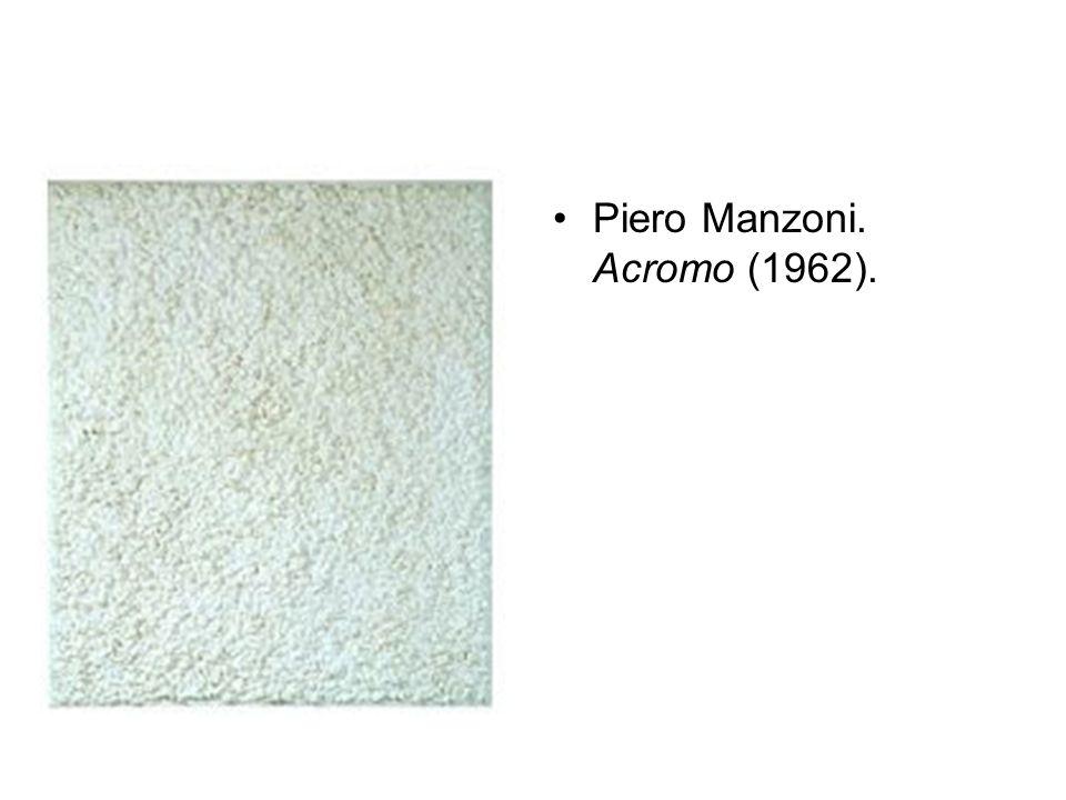 Piero Manzoni. Acromo (1962).