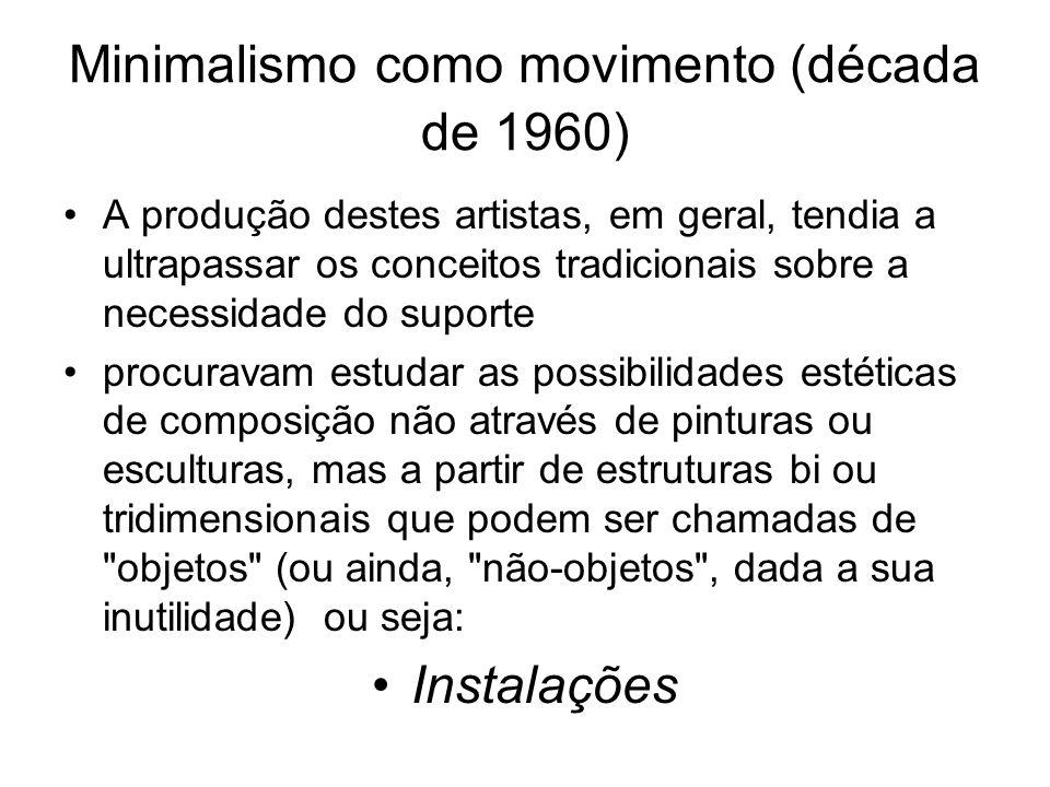 Minimalismo como movimento (década de 1960)