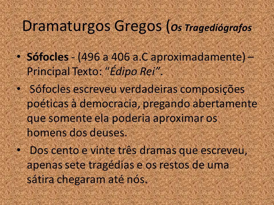 Dramaturgos Gregos (Os Tragediógrafos