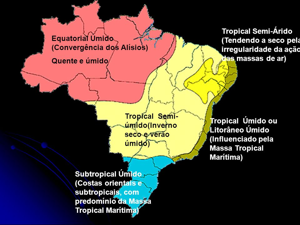Tropical Semi-Árido (Tendendo a seco pela irregularidade da ação das massas de ar)