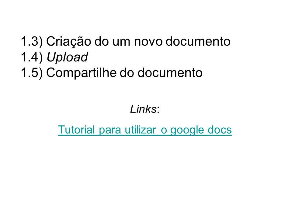 Tutorial para utilizar o google docs