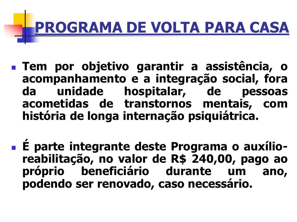 PROGRAMA DE VOLTA PARA CASA