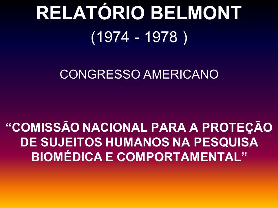 RELATÓRIO BELMONT (1974 - 1978 ) CONGRESSO AMERICANO
