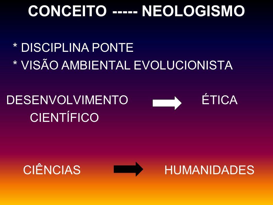 CONCEITO ----- NEOLOGISMO