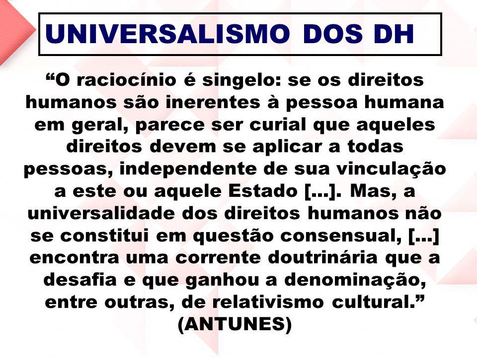 UNIVERSALISMO DOS DH