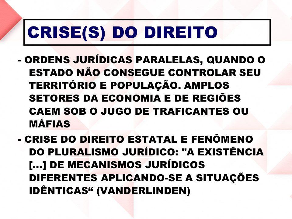 CRISE(S) DO DIREITO