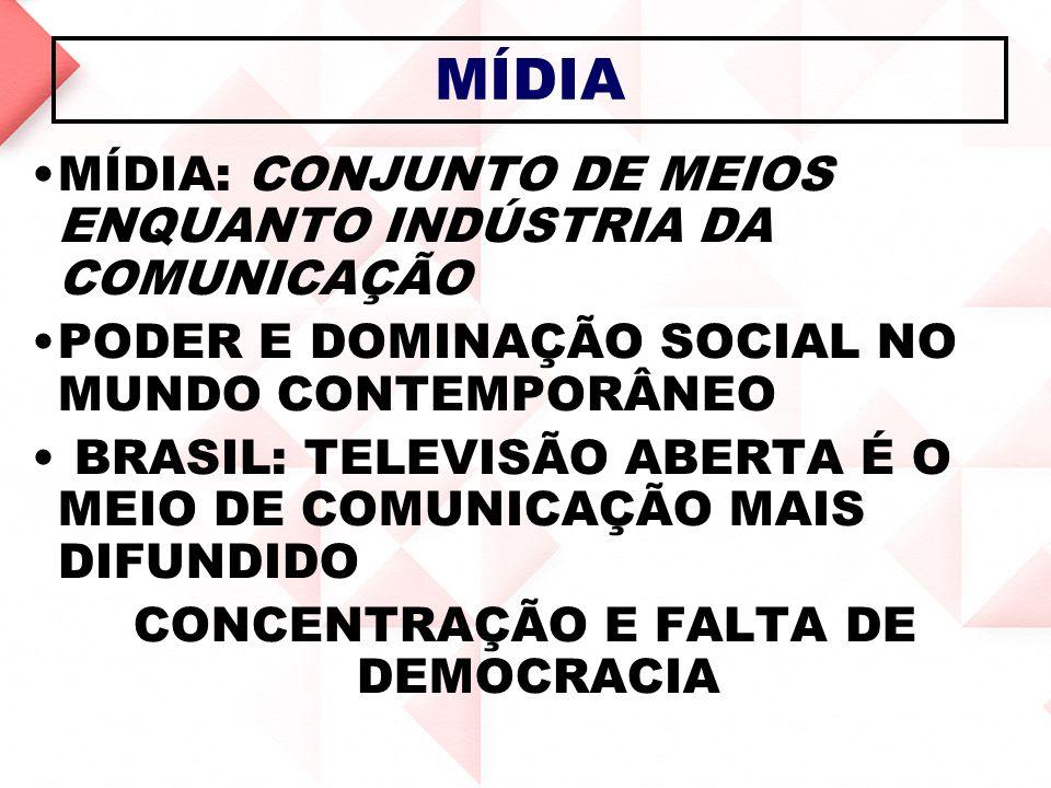 CONCENTRAÇÃO E FALTA DE DEMOCRACIA