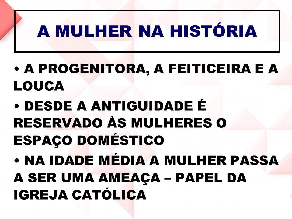 A MULHER NA HISTÓRIA A PROGENITORA, A FEITICEIRA E A LOUCA