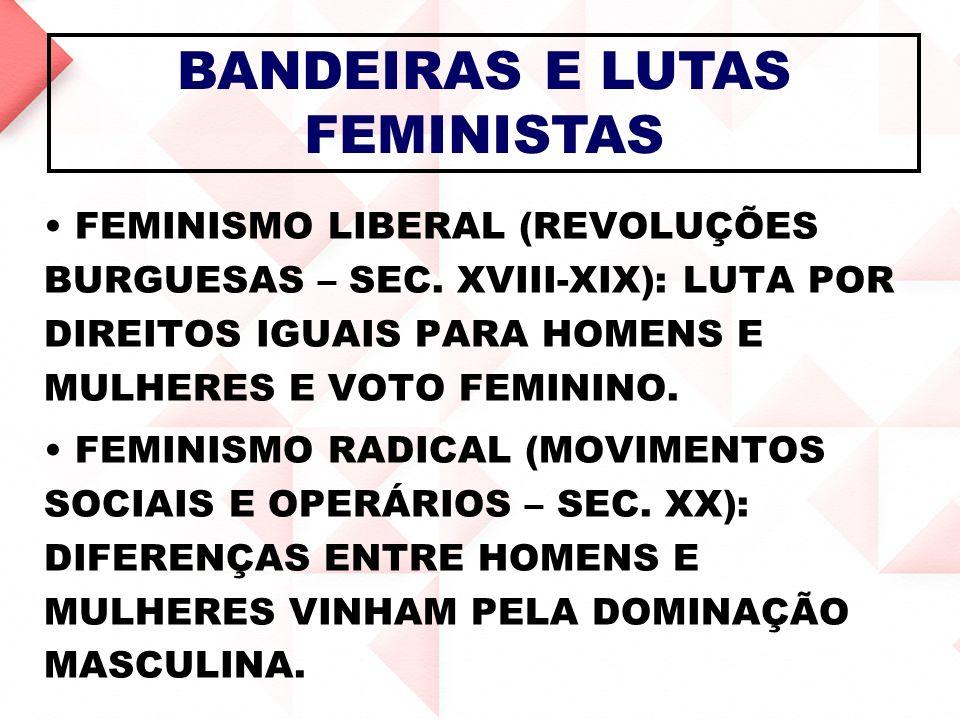 BANDEIRAS E LUTAS FEMINISTAS