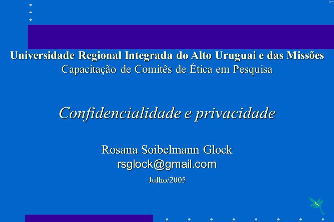 Confidencialidade e privacidade
