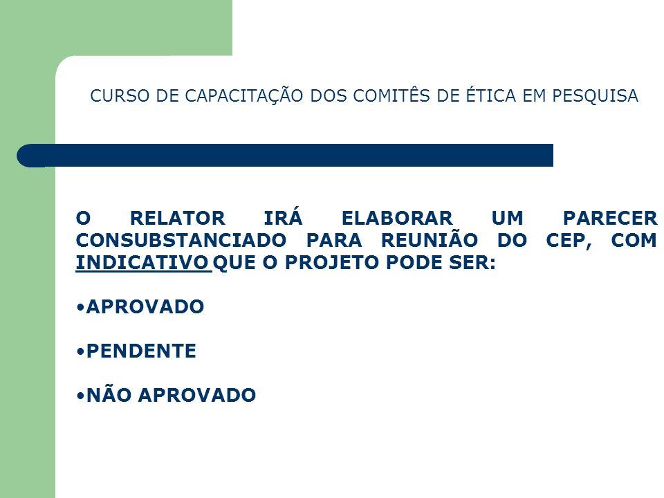 CURSO DE CAPACITAÇÃO DOS COMITÊS DE ÉTICA EM PESQUISA