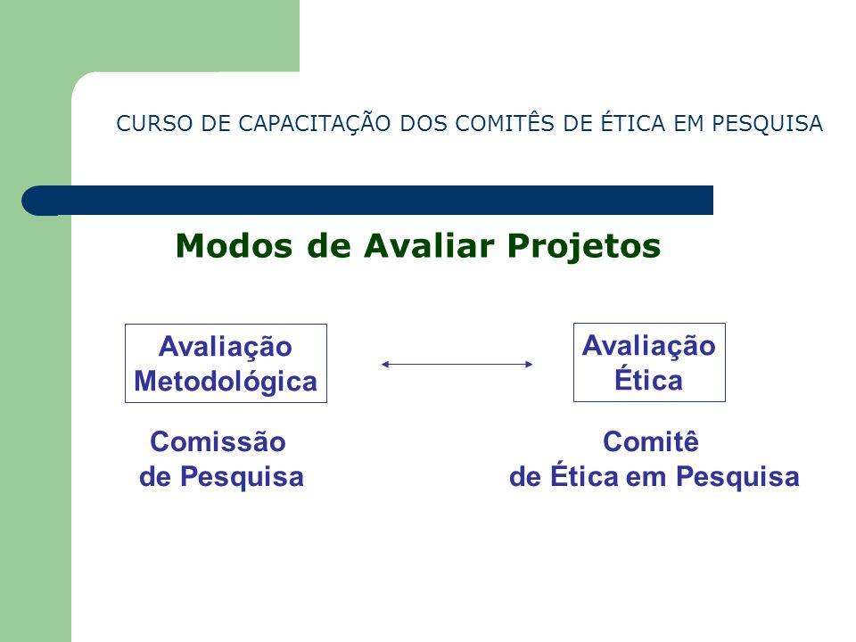 Modos de Avaliar Projetos