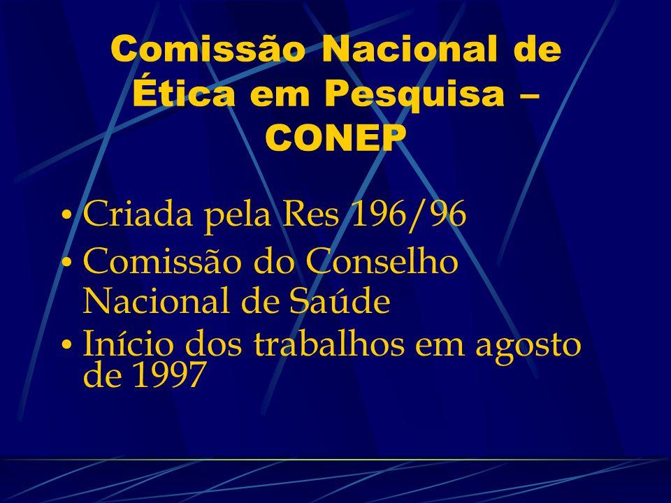 Comissão Nacional de Ética em Pesquisa – CONEP