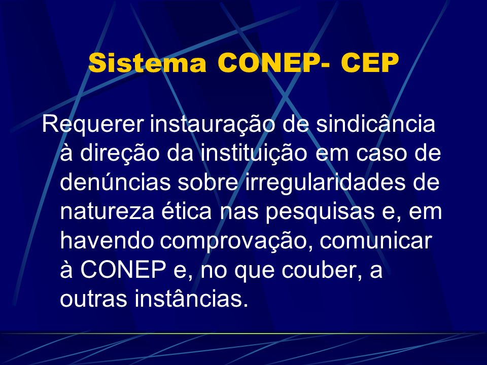 Sistema CONEP- CEP