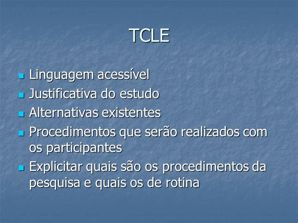 TCLE Linguagem acessível Justificativa do estudo