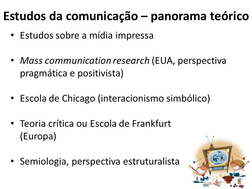 Estudos da comunicação – panorama teórico