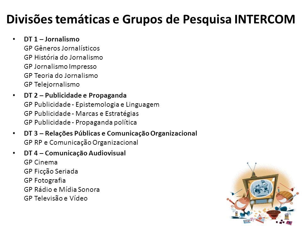 Divisões temáticas e Grupos de Pesquisa INTERCOM