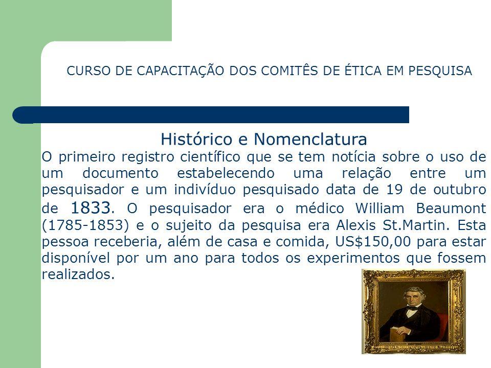 Histórico e Nomenclatura