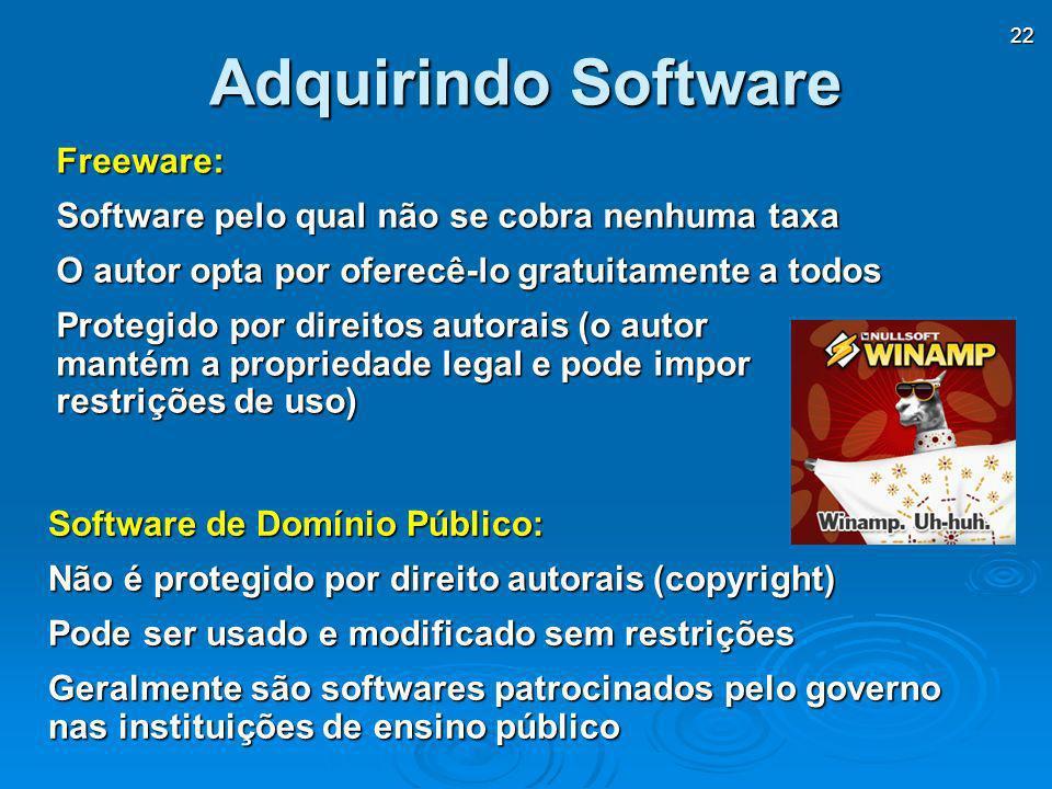 Adquirindo Software Freeware: