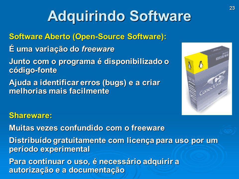 Adquirindo Software Software Aberto (Open-Source Software):