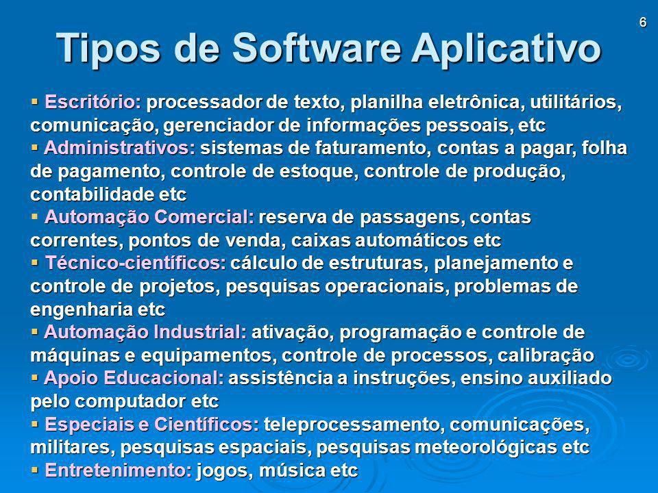 Tipos de Software Aplicativo
