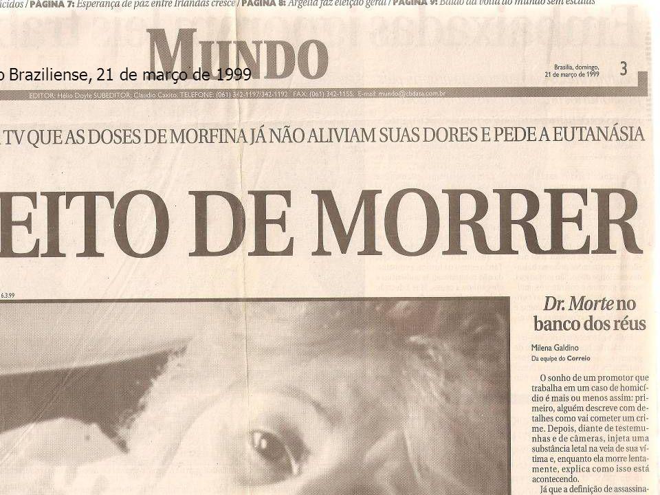 Correio Braziliense, 21 de março de 1999