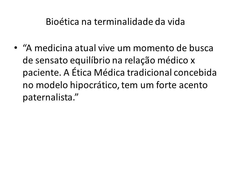 Bioética na terminalidade da vida