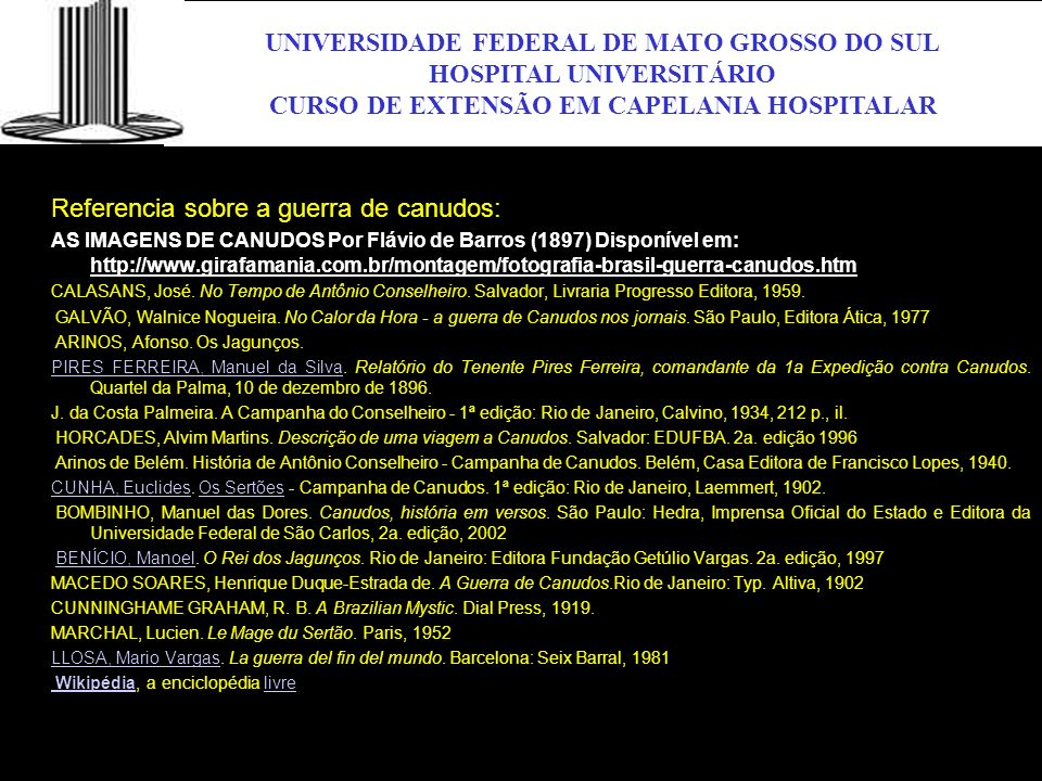 UFMS UNIVERSIDADE FEDERAL DE MATO GROSSO DO SUL HOSPITAL UNIVERSITÁRIO
