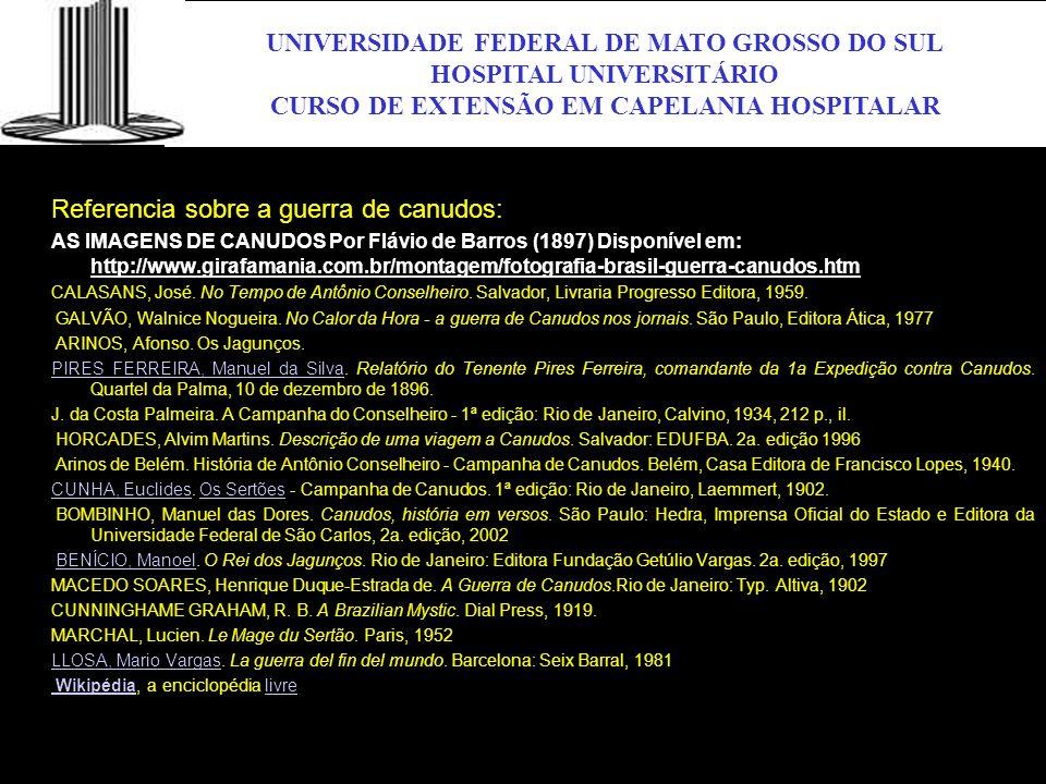 UFMS UNIVERSIDADE FEDERAL DE MATO GROSSO DO SUL HOSPITAL UNIVERSITÁRIO