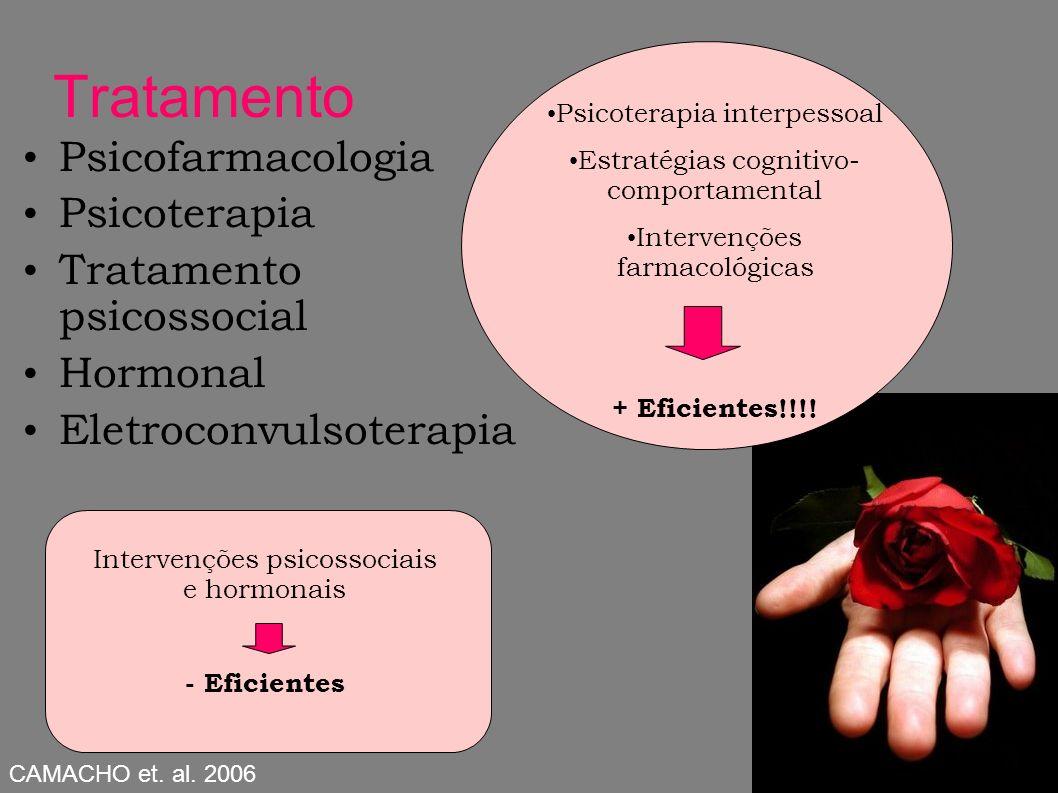 Tratamento Psicofarmacologia Psicoterapia Tratamento psicossocial